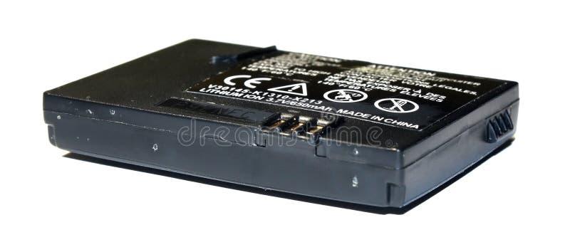 Batería dañada hinchada imagen de archivo