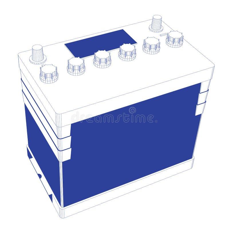 Batería de coche de las rayas azules libre illustration