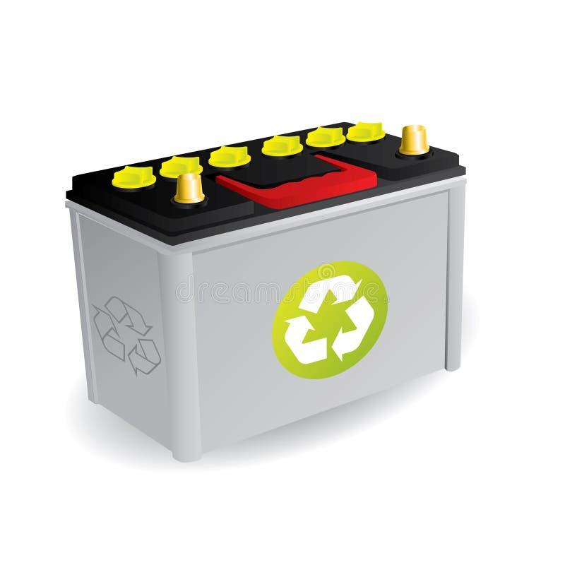 Batería de coche reciclable ilustración del vector