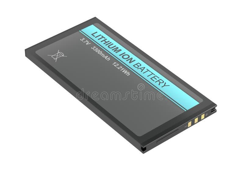 Batería de ión de litio recargable stock de ilustración