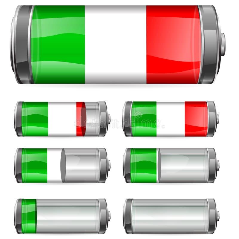 Batería de Italia ilustración del vector