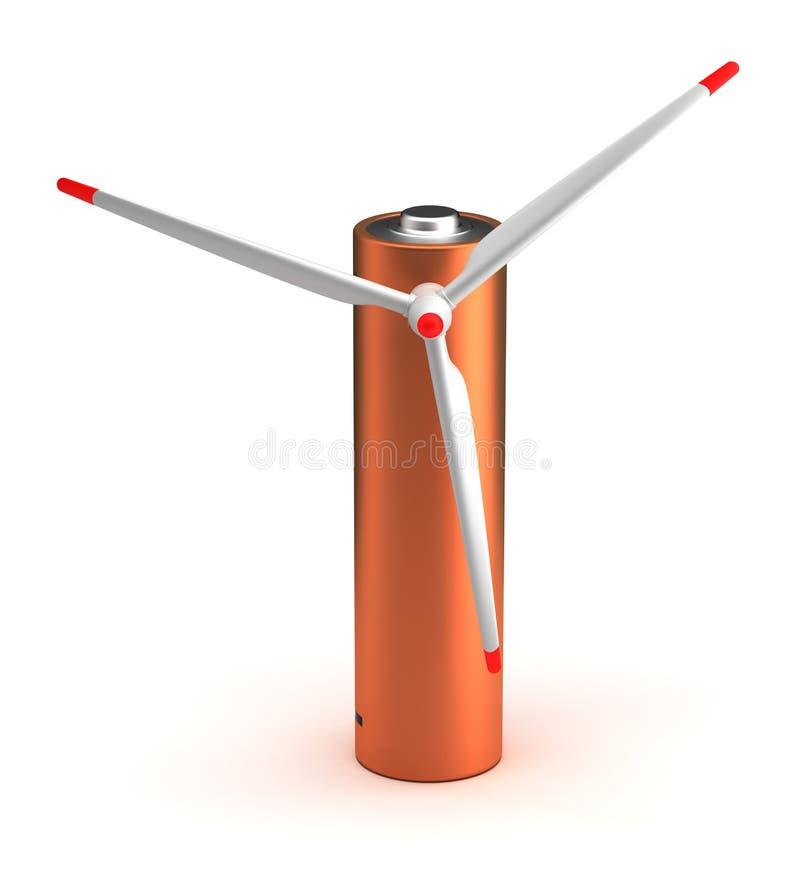 Batería de la turbina de viento libre illustration