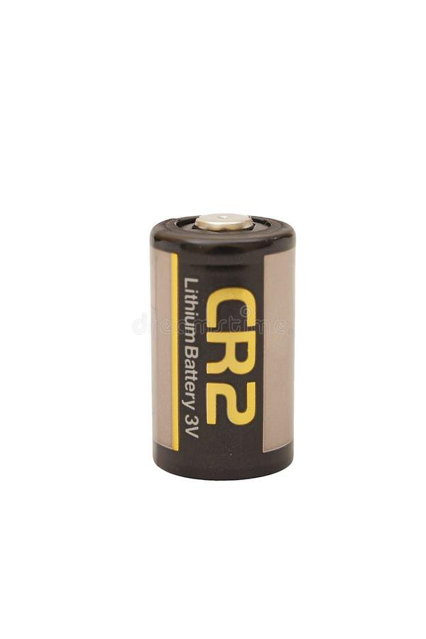 Batería de litio CR2 foto de archivo libre de regalías