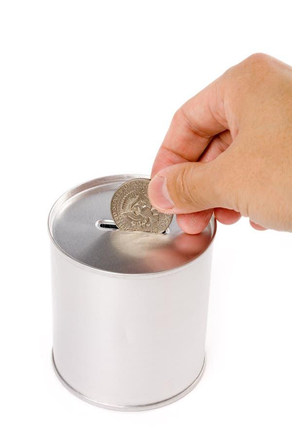 Batería de moneda fotografía de archivo