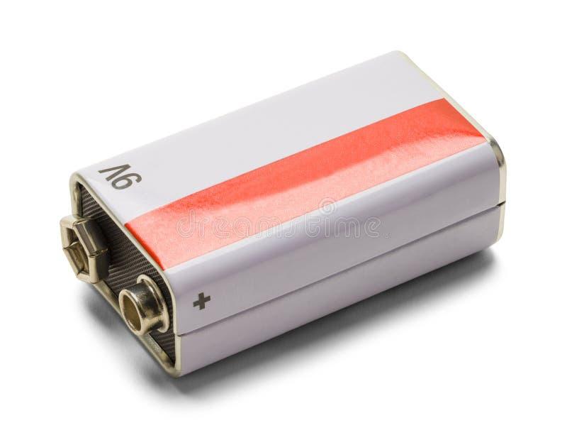 Batería de nueve voltios imagen de archivo