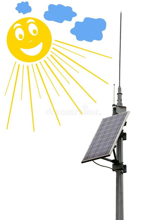 Batería Del Panel Solar Fotos de archivo