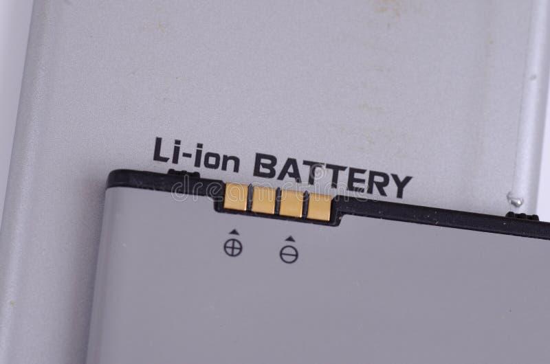 Batería li-ion fotos de archivo libres de regalías