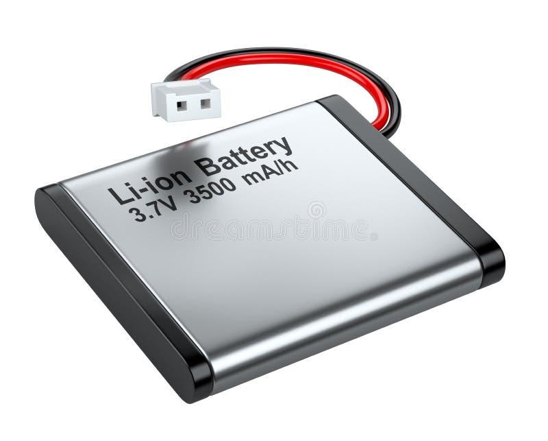 Batería li-ion recargable con el conector stock de ilustración