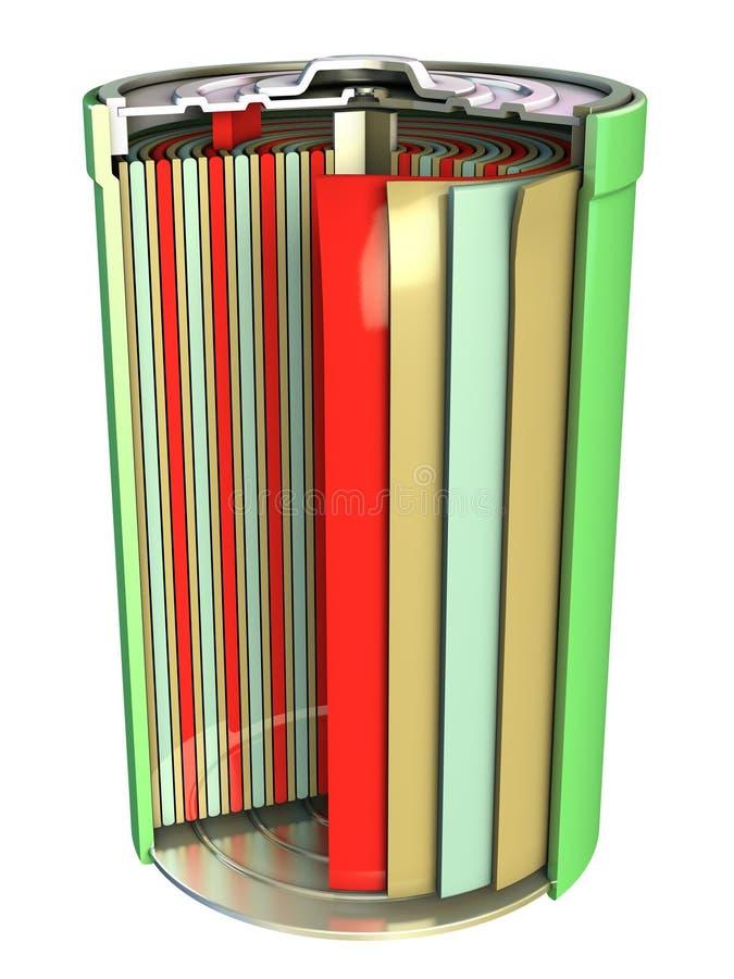 Batería recargable ilustración del vector