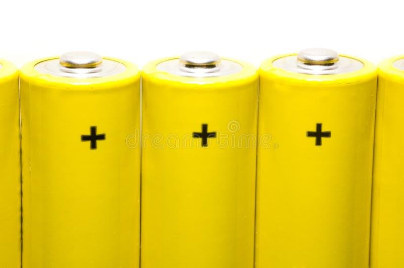 Baterías aisladas fotos de archivo libres de regalías