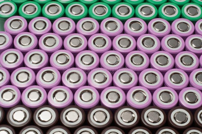 Baterías de la ión de litio 18650 imagen de archivo