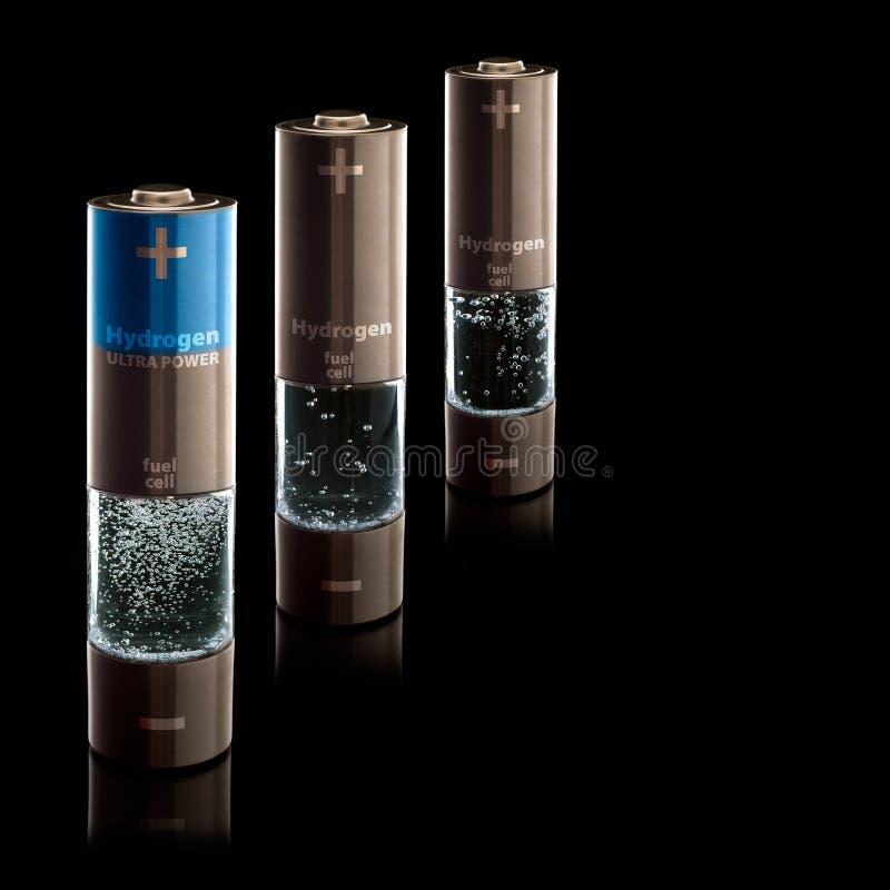 Baterías del AA del hidrógeno (R6) ilustración del vector