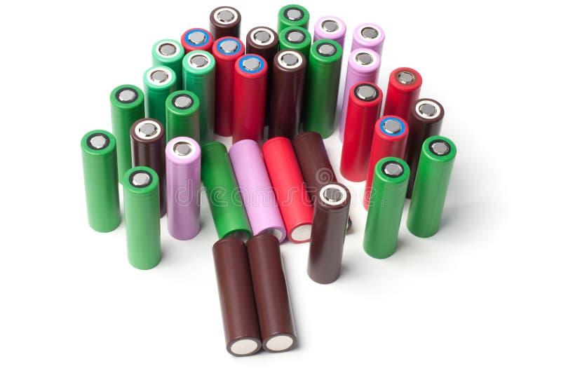 baterías del Li-ion 18650 fotografía de archivo libre de regalías