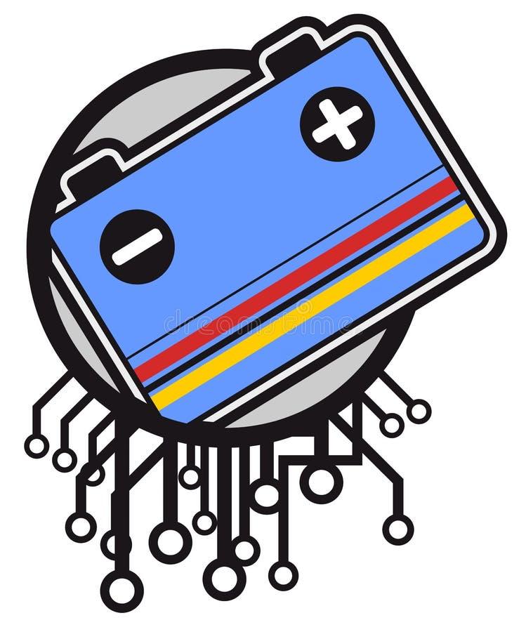 Bateria da tecnologia ilustração stock