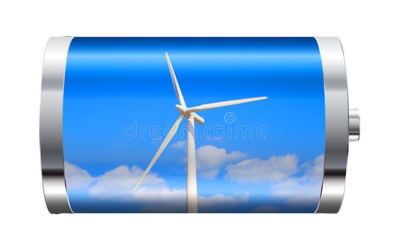 Bateria da turbina eólica imagens de stock royalty free