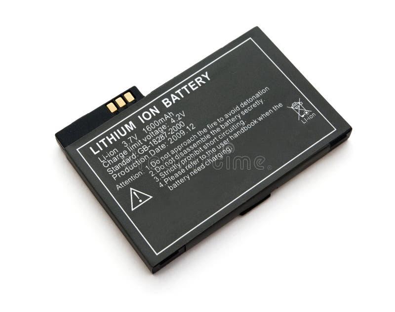Bateria de íon de lítio foto de stock