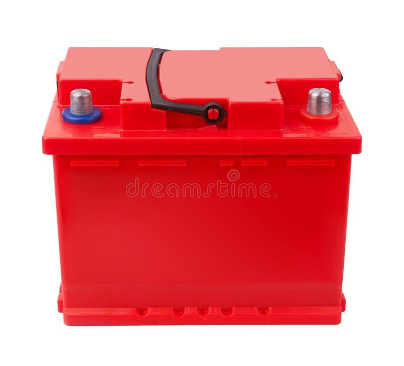 Bateria de carro isolada no branco fotografia de stock royalty free