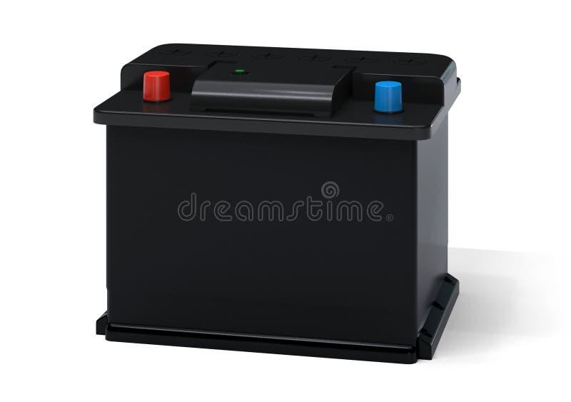 Bateria de carro preta ilustração stock