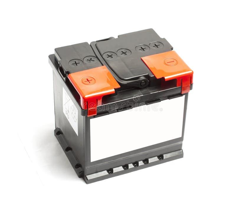 Bateria de carro preta isolada em um fundo branco foto de stock
