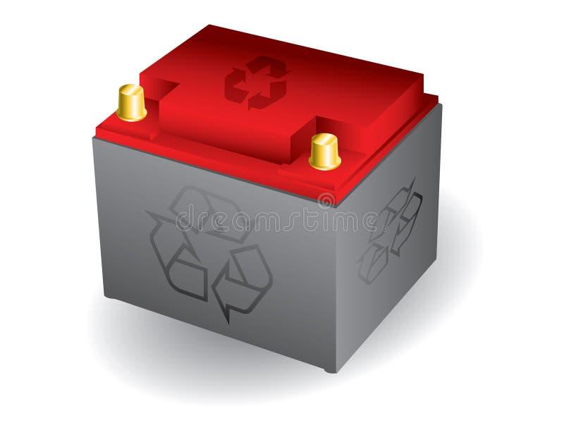 Bateria de carro Recyclable ilustração royalty free