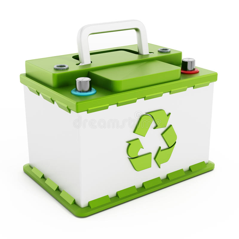 Bateria de carro Recyclable ilustração do vetor