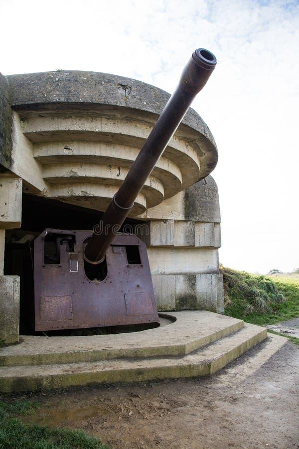 Bateria de Mer do sur de Longues fotografia de stock