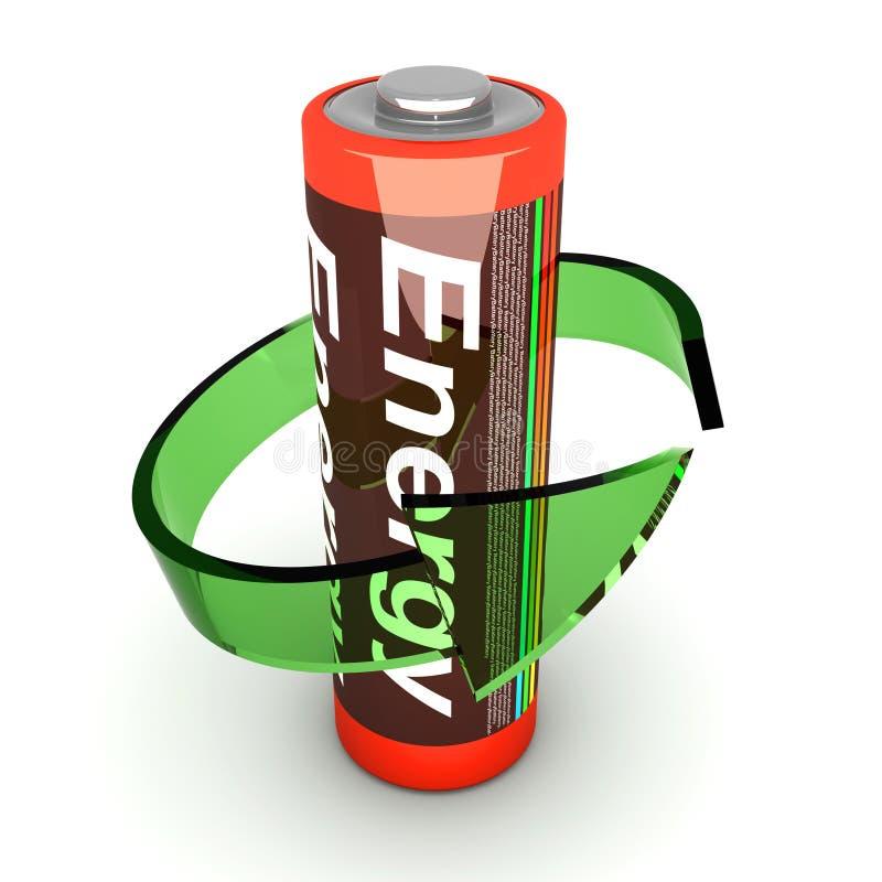 Bateria de Rechargable ilustração do vetor