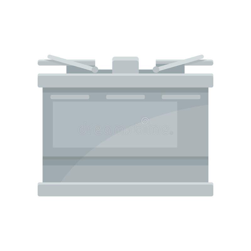 Bateria de veículo motorizado Acumulador do carro Tema do automóvel Vetor liso para anunciar o cartaz ou a bandeira da auto loja ilustração royalty free