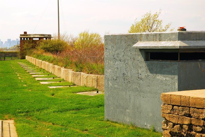 Bateria, forte Warren, área de recreação nacional das ilhas do porto de Boston foto de stock royalty free