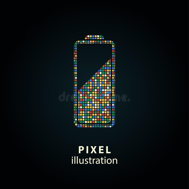 Bateria - piksel ilustracja royalty ilustracja