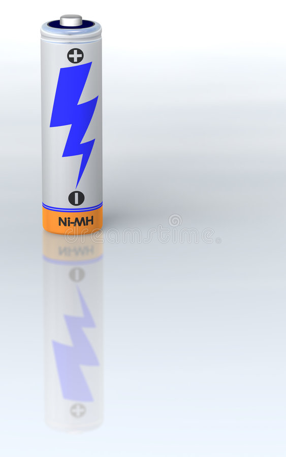 bateria pojedyncza ilustracja wektor