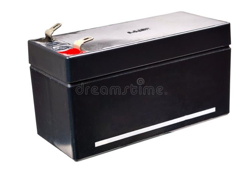 Bateria portátil do hélio no fundo branco fotos de stock