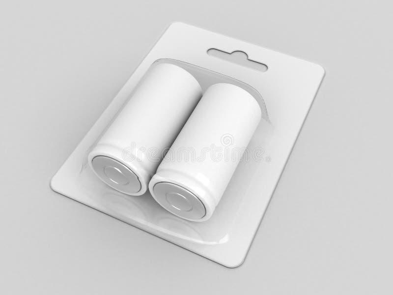 Bateria vazia do acumulador (bloco de bolha) imagens de stock