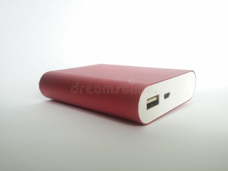 Bateria vermelha Powerbank foto de stock