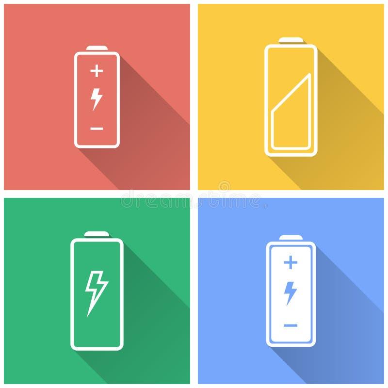Bateria - wektorowa ikona ilustracja wektor