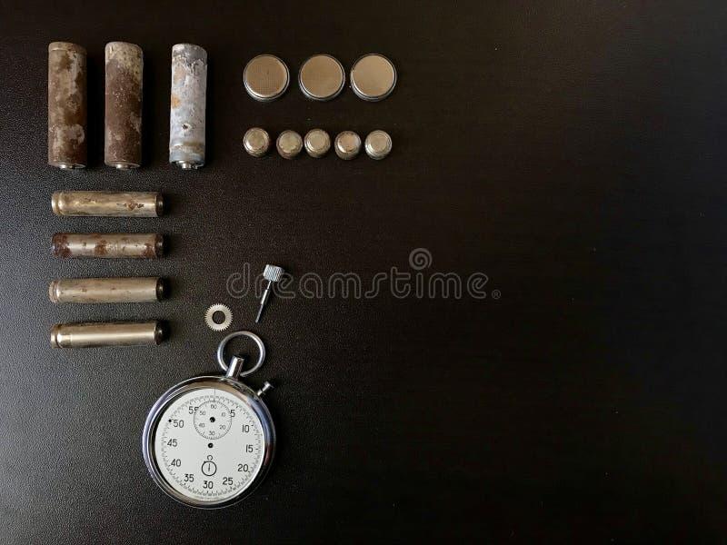 baterias Corrosão-livres Tamanho e forma diferentes foto de stock