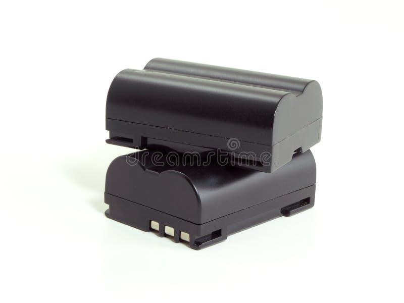 Baterias da câmera imagem de stock