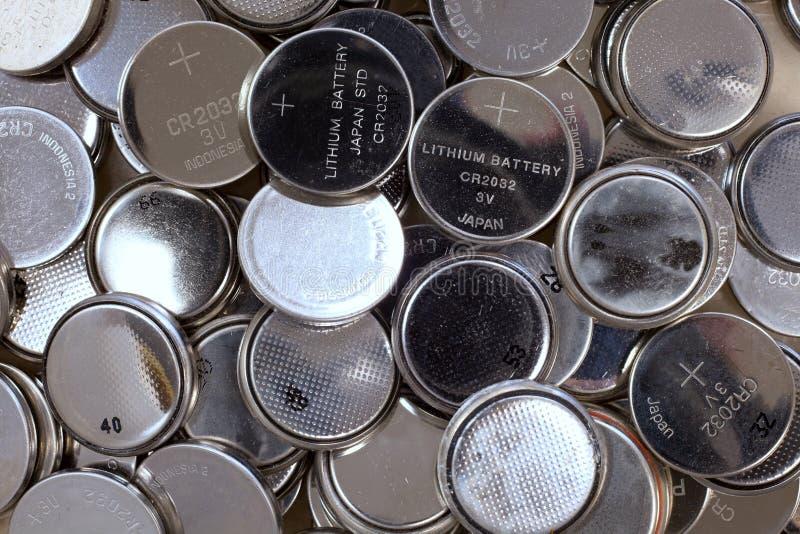 Baterias da pilha do botão imagens de stock