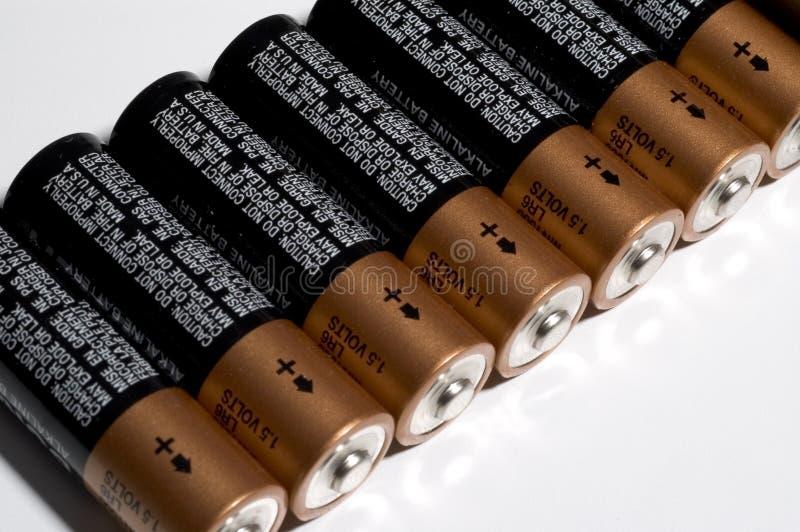 Baterias Em Uma Fileira Imagens de Stock