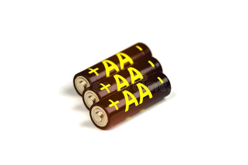 Baterias pretas do AA imagens de stock royalty free