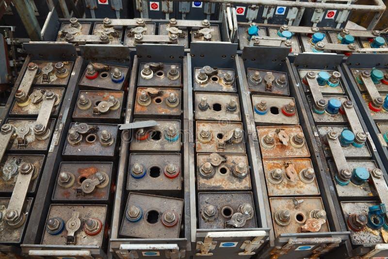 Baterias velhas fotos de stock royalty free