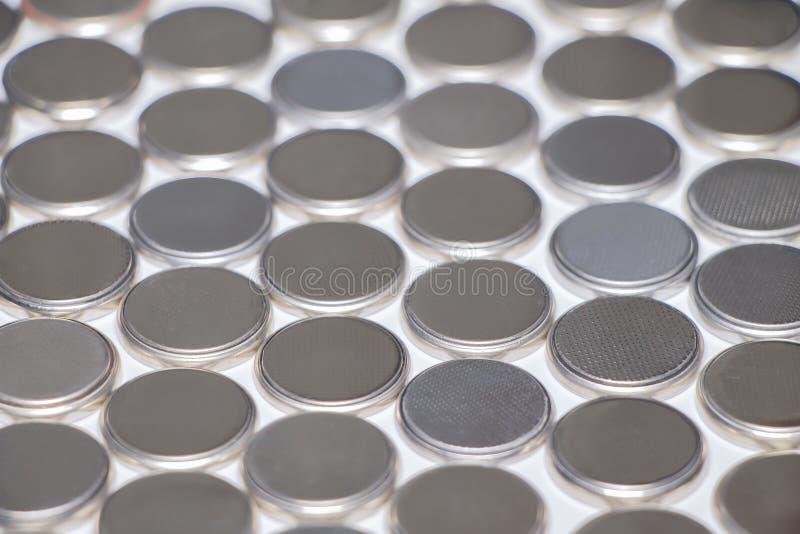 Baterie dla zegarka T?o, tekstura zdjęcia stock