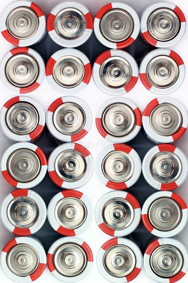 Baterie Na Białym tle Kilka baterie fotografia royalty free