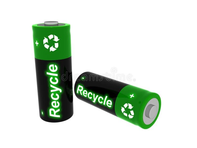baterie są przetwarzane ilustracja wektor