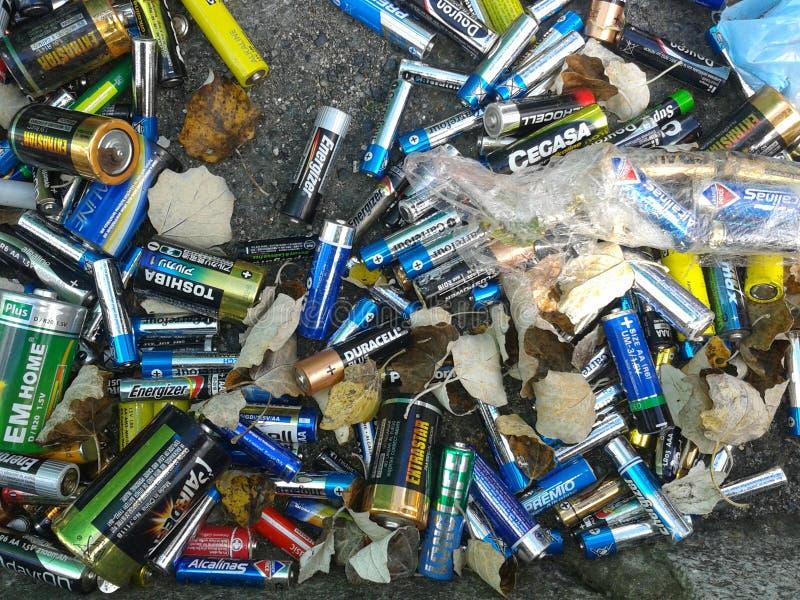 Bateries de rebut photo libre de droits