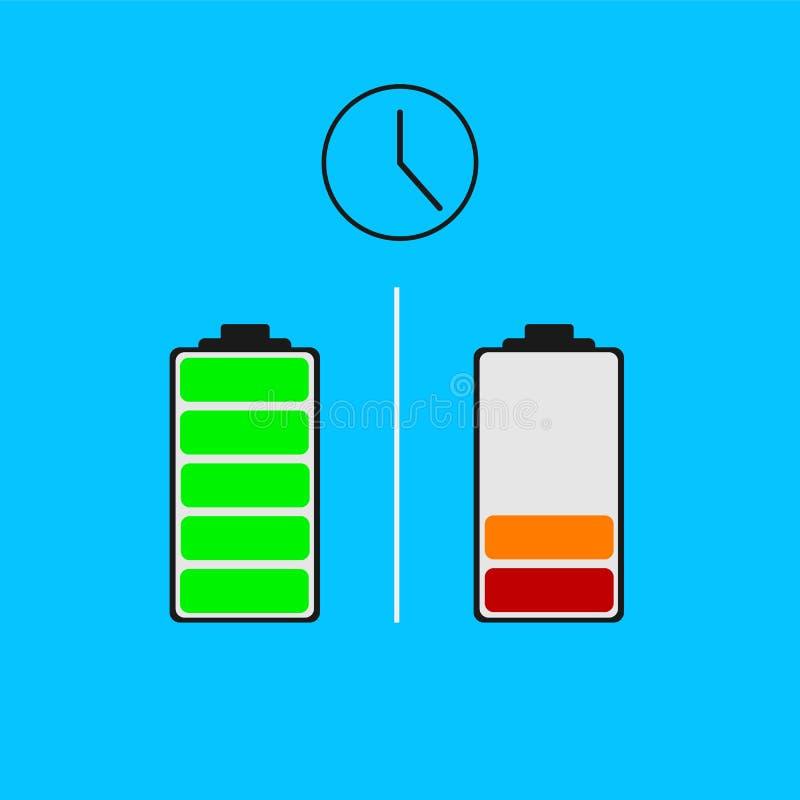Baterii władzy różny status ilustracji