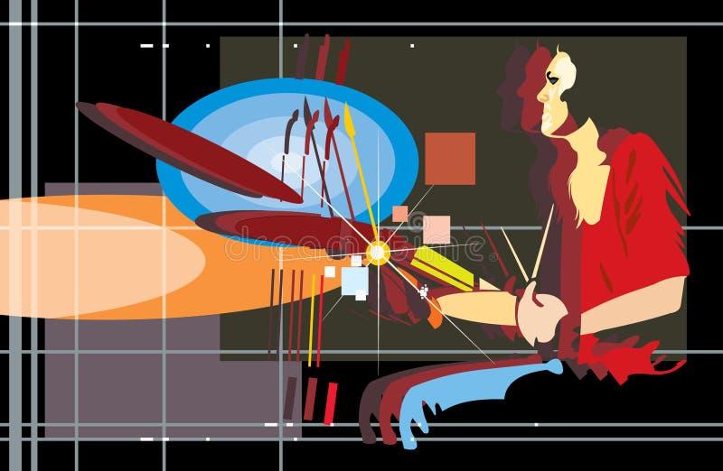 Baterista ilustração do vetor
