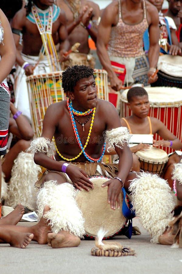 Baterista africano fotografia de stock