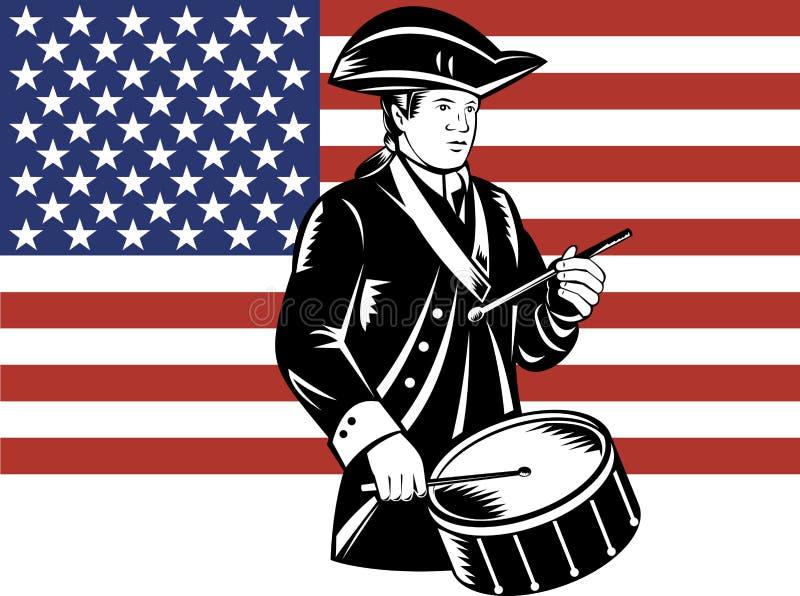 Baterista americano do patriota ilustração royalty free