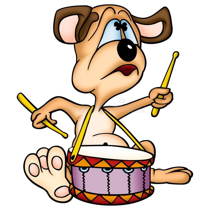 Baterista do cão ilustração stock